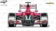 Ferrari, la parte delantera y la suspensión de SF16-H