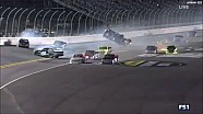 NASCAR Truck huge crash at the finish - Bell flips