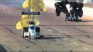 Antron Brown powers to the lead in Phoneix