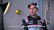 Detrás de cámaras de sesión fotográfica de Force India F1 Team