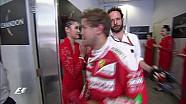 Vettel et Kvyat se chamaillent dans la cool-room