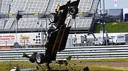 Enzo Bortoleto crash in Britse F3 Rockingham