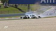 GP d'Espagne - L'accrochage entre Rosberg et Hamilton