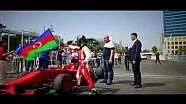 Gulhuseyn Abdullayev Test Drive en el circuito de la ciudad de Bakú