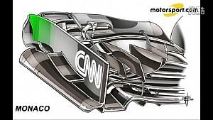 Giorgio Piola - 迈凯伦MP4-31 加拿大站前翼变化