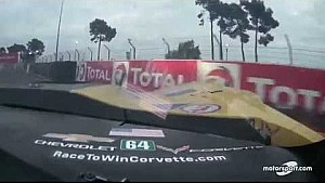 Le Mans 24h: Corvette Racing #64 crash