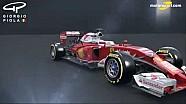 Giorgio Piola - evolución de ala delantera Ferrari SF16-H desde el GP de Rusia