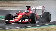 Sebastian Vettel test de nieuwe Pirelli's voor 2017