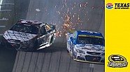 Dillon hits the wall after contact with Harvick