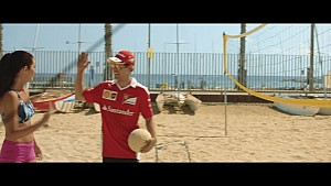 Beach volley match