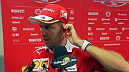 Интервью Себастьяна Феттеля во время Мирового финала Ferrari
