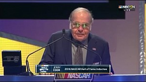 Jerry Cook Is Inducted To The NASCAR Hall Of Fame - 2016