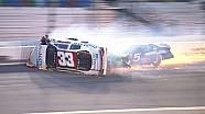 Justin Fontaine rolls over in hard crash at Daytona