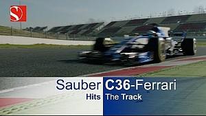 Erste Fahrbilder: Sauber C36