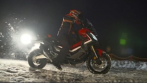 Marc Márquez drives the new X-ADV in the snow!