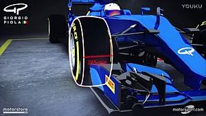 Giorgio Piola现场解读全新规格倍耐力轮胎