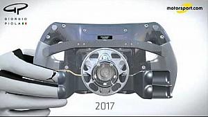 Giorgio Piola - Perubahan stir Mercedes W08 / Lewis Hamilton