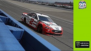 Keselowski feels 'lucky' to take second with damaged race car