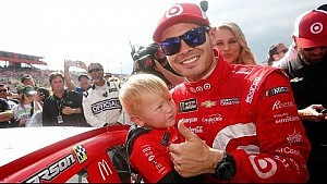 Kyle Larson likes to rack up frequent flyer miles