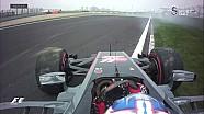 Romain Grosjean sıralama turlarında spin attı
