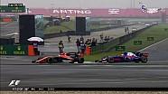 Alonso direndi ama Sainz'a geçilmekten kurtulamadı