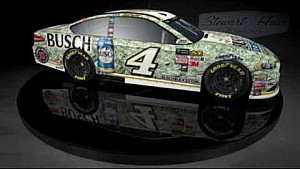 360 rendering of Kevin Harvick's 2017 Busch Bucks Ford Fusion for the Nascar All-Star Race