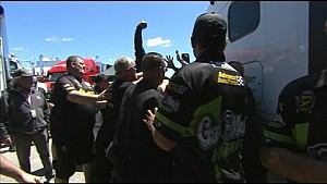 The Crews of Laughlin and Gray Fight in the pits