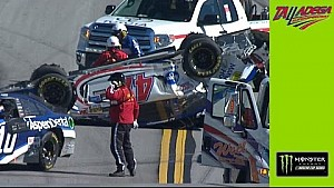 Watch AJ Allmendinger's car turned back over by the tow truck