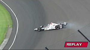 Zach Veach fast Friday turn 2 incident