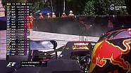 2017 Monaco GP FP3- Daniel Ricciardo Fren Sorunuyla Kalıyor