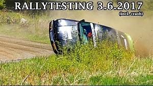 Rallytesting 3.6.2017 (incl. crash)