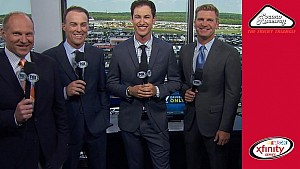 Monster Energy series drivers gear up and hit the booth for the Pocono Green 250