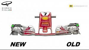 Ferrari, modifiche alla nuova ala anteriore- Austria (2D)