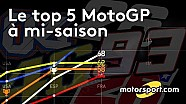 Le Top 5 MotoGP à mi-saison