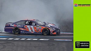 Hamlin gets loose at Loudon, wrecks