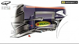 Red Bull RB13 bargeboard development - Spain to Austria