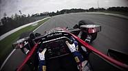 El circuito de Mid-Ohio en el casco de Graham Rahal