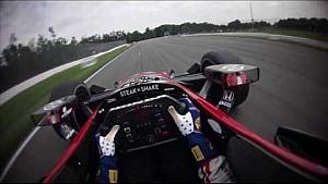 Le circuit du Mid-Ohio dans le casque de Graham Rahal