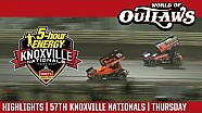 World of Outlaws Craftsman sprint cars Knoxville raceway August 10, 2017 | Highlights