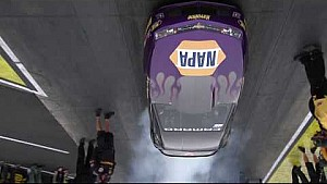 "Vincent Nobile wins opening round of ""Pro Stock battle of the Burnouts"" at Indy"