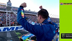 Kyle Busch clinches New Hampshire win, smokes competition