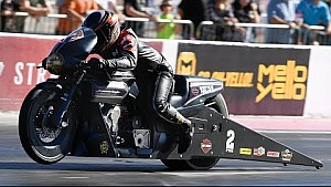 Eddie Krawiec scores another 3 points in qualifying in Las Vegas on Friday