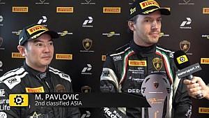 Lamborghini Super Trofeo Round 6 Asia Race 2 - Interview with Haryanto and Pavlovic