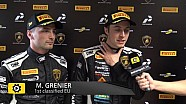 Lamborghini Super Trofeo Round 6 Europe Race 2 - Interview with Grenier and Spinelli