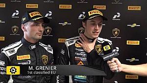Lamborghini Super Trofeo Round 6 Europe Race 2 - Interview with Grenier and Spinelli
