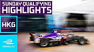 2017 HKT Hong Kong E-Prix Sunday Qualifying Highlights - Formula E