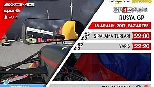 F1 2017 GP1 Türkiye Şampiyonası #3 Rusya GP - CANLI YAYIN