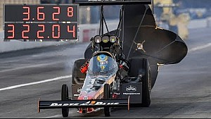 Clay Millican makes the quickest pass in NHRA history