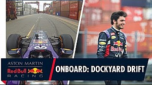 On board with Carlos Sainz as he drifts the docks in Peru!