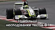 Найбільші несподіванки на тестах Формули 1